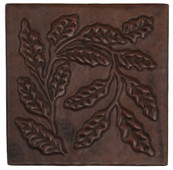 Fern abstract design copper tile
