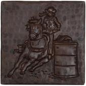 Barrel Racing design copper tile