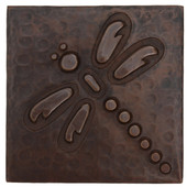 design copper tile dragonfly on diagonal