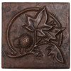 Leaf berry design copper tile