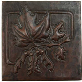 Maple Leave Square design copper tile