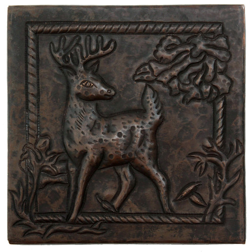 Deer Scene design copper tile
