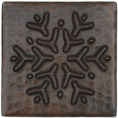Reindeer Snowflake design copper tile