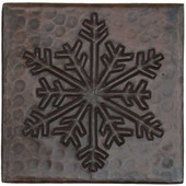 Traditional snowflake design copper tile
