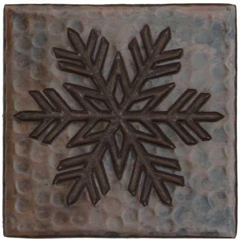 Copper Tile Fern Snowflake Design Copper Sinks Direct