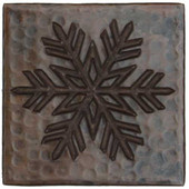 Fern Snowflake design copper tile