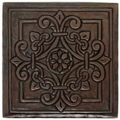 TL982 Medallion Handcrafted Copper Tile