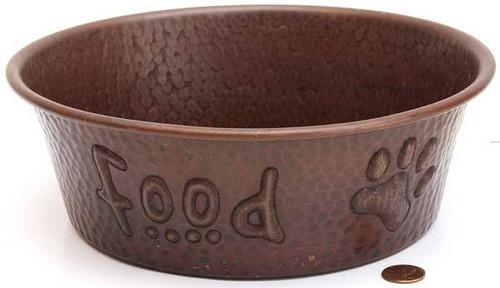 Copper pet bowls for food
