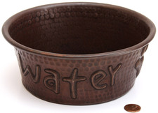 copper pet bowl water