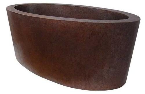 Hammered copper double wall tub