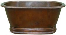 copper tub straight top