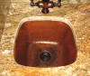 SBV15-Square copper bar sink installed
