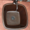 Copper Sinks Direct-SBV15-Square copper bar sink installed