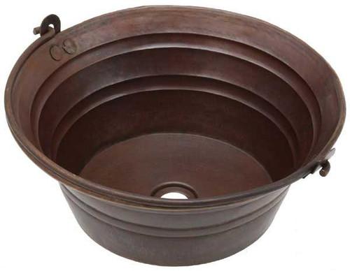 BKT17-Round Copper Bucket Sink