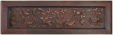 Farmhouse Sink Designer Front (FHA-FVN) Custom Floral Vine Apron Copper Kitchen Sink