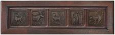 Farmhouse Sink Designer Front (FOA-AML) Custom Forest Animals Copper Apron Kitchen Sink
