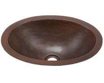 BO15-Oval Bath Copper Sink