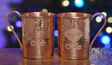 Hammered Mules Mr & Mrs Hammered Copper Mug Set