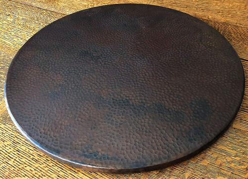 Dark copper-random hammering