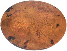 "Lazy Susan Hammered Copper 19"" Fire"