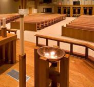 Shiny Copper Baptismal Bowl