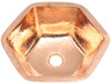Shiny copper hexagon sink