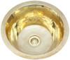 Hammered shiny brass sink