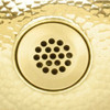 Brass drain for use with our brass sinks (411-BRS)