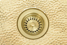 Brass Kitchen/Prep Strainer for use with brass bar sinks, kitchen and prep sinks.