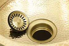 "Sink Drain (289-DISP-BRS) 3.5"" Kitchen Disposer Flange w/Stopper for Brass Copper Kitchen Sinks"