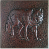 215 Hammered Copper Wolf Tile