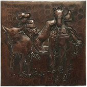 Hammered Copper Rodeo Design TL232