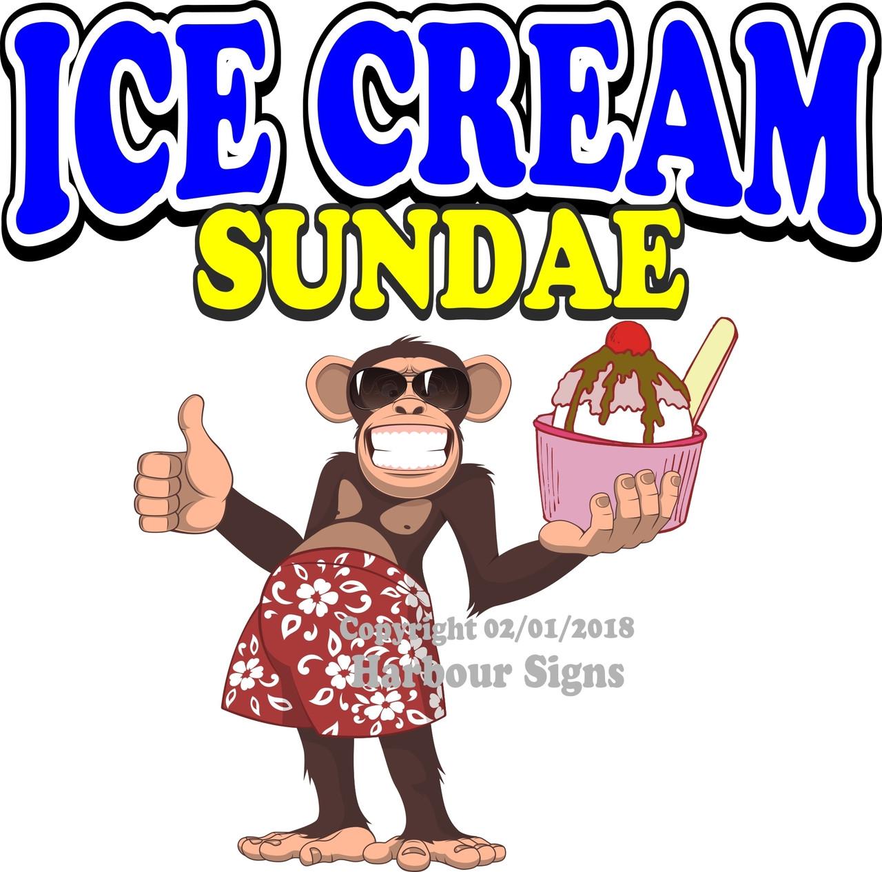"Ice Cream Decal 14/"" Concession Restaurant Food Truck Vinyl Menu Sticker"