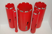 "BLUEROCK DRY Type 1""-5"" Set Diamond Coring Bit - Concrete Core Drill - PACKAGE DEAL"