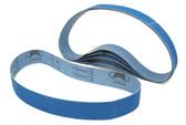 BLUEROCK Pack of 5 #80 Grit Sandpaper Zirconia Alumina Sanding Belts for BBS-40A Polisher/Grinder