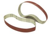 BLUEROCK Pack of 5 #180 Grit Sandpaper Aluminum Oxide Sanding Belts for BBS-40A Polisher/Grinder