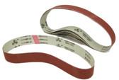 BLUEROCK Pack of 5 #400 Grit Sandpaper Aluminum Oxide Sanding Belts for BBS-40A Polisher/Grinder