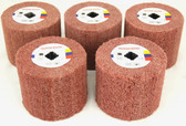 BLUEROCK 5 Piece Sanding Wheels PACKAGE DEAL for 120D Polisher (#80, 120, 180, 240, 320 Grit)