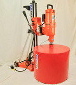 "BLUEROCK 20"" Z1T/S 220v Concrete Core Drill w/ Tilting Stand & Rolling Base"