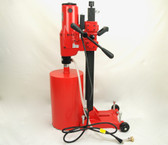 "BLUEROCK 10"" Z1RB Concrete Core Drill w/ Stand & Rolling Base + 2 Bits - Package Deal"