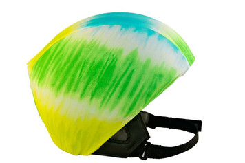 Lime/ Turquoise Tie Dye Helmet Cover