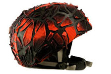 Red Fracture Helmet Cover