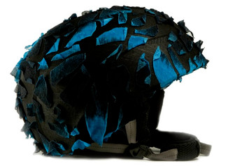 Blue Fracture Helmet Cover