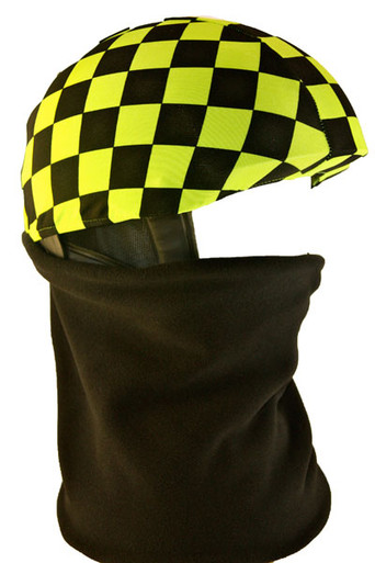 Green / Black Check Helmet Cover with Gator