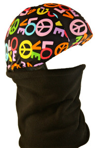 Peace Love Helmet Cover with Gator