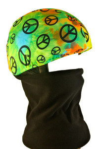 Multi Peace Signs Helmet Cover with Gator