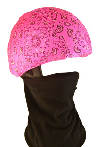 Pink Bandana Helmet Cover with Gator
