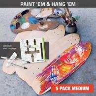 Paint 'em and Hang 'em - 5 Pack Medium