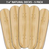 7.4 Natural Decks 5 Pack