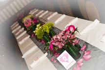 Delicate Bat Mitzvah Flowers - Kids Table